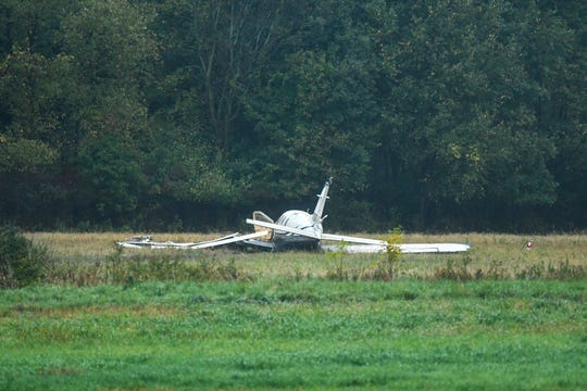 A small plane crashed just west of the Capital Regional International Airport Thursday, Oct. 3, 2019.