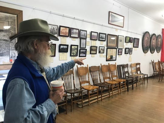 Keith Harrison, director of the Grand Army of the Republic, Michigan Department James B. Brainerd Post #111 Memorial Hall and Museum in Eaton Rapids said he's heard voices he can't explain during ghost hunts at the building.