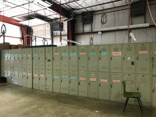 Lockers sit empty at Transitions North, a community mental health program  that  shut its doors Monday Sept. 30, 2019.