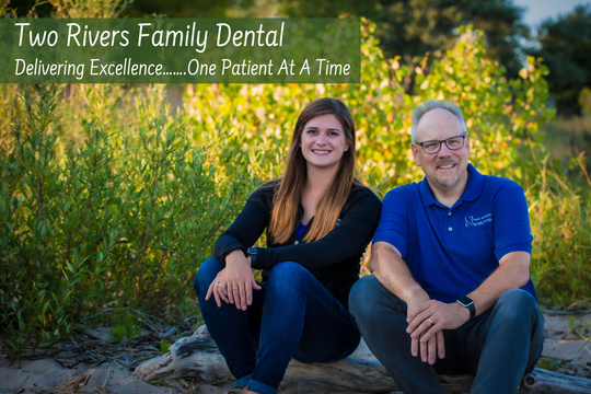 Two Rivers Family Dental owner Dr. Chris Hansen (right) with Two Rivers Family Dental dentist Dr. Jamie Meunier.