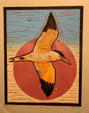 'Caspian Tern' by Rebecca Jabs took home the Best of Show Award in the 2019 Art Slam Manitowoc Challenge.