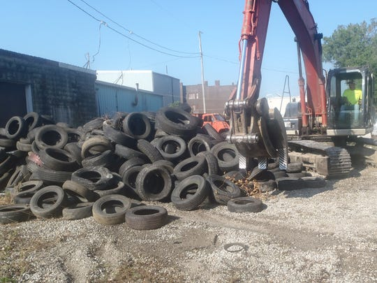 The state cleaned up tons of used tires found at 436-454 W. Center St., Marion.