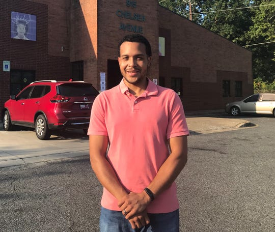 "Chris Studaway, 31, voted in North Memphis. He said it was time for ""fresh faces"" to lead the city."