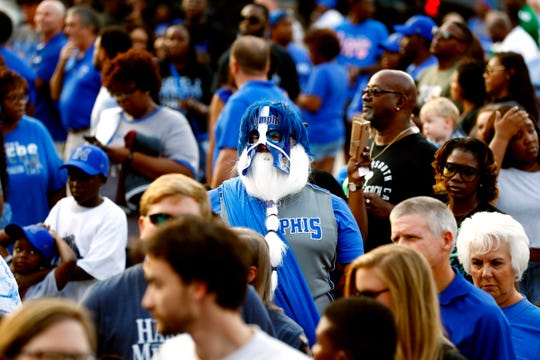 Memphis fan Phil Glass is a constant presence at home games for both the Tigers football and men's basketball teams