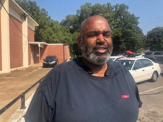 Antionio Gwinn cast his ballot for former Mayor Willie Herenton in Orange Mound.