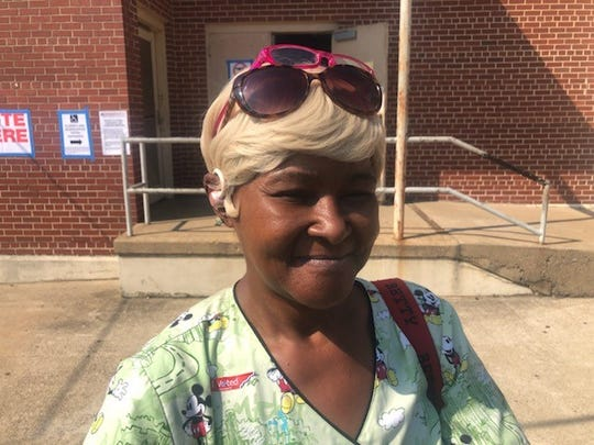 Mea Ingram voted on Election day in Orange Mound.