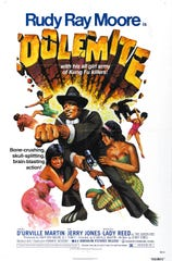 "The first ""Dolemite"" movie in 1975 established Rudy Ray Moore as a uniquely comedic and irresistible ""blaxploitation"" hero."