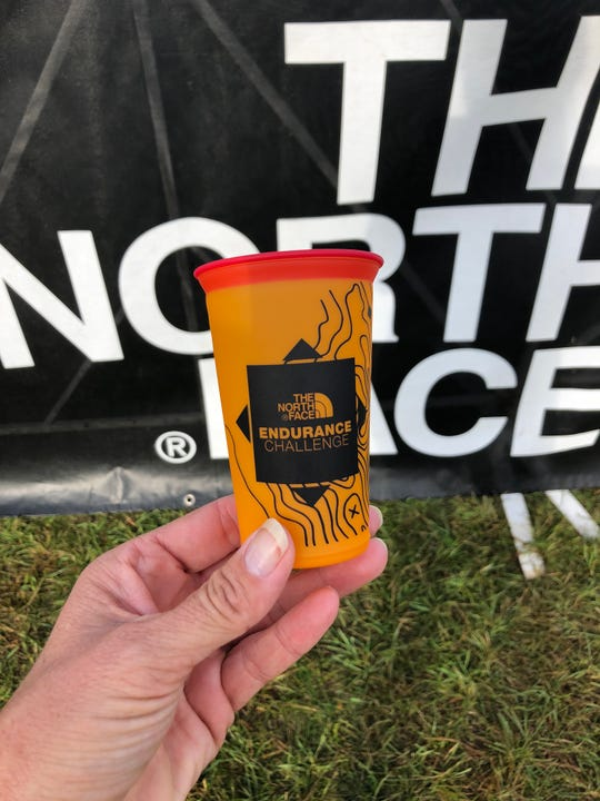 The North Face Endurance Challenge gave each runner a small, lightweight, crushable and reusable cup at its Wisconsin races in September. No other cups were allowed on the courses. The Lakefront Marathon in Milwaukee is also going eco-friendly by using compostable cups at its race Sunday.