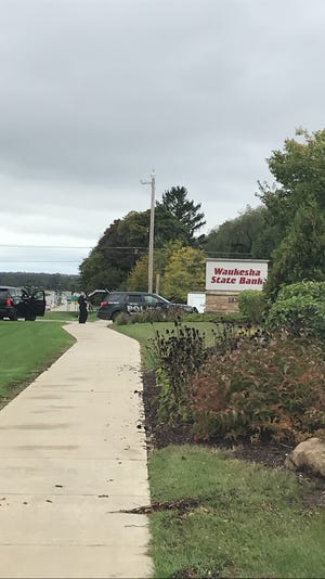 Brookfield Police are at Waukesha State Bank, 18300 W. Capitol Drive, the site of a reported robbery on Thursday, Oct. 3.