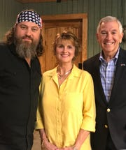 Willie Robertson, Linda Rispone and Eddie Rispone are pictured in a photo taken Oct. 1 at the Duck Commander headquarters in West Monroe.