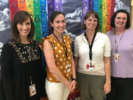 The Liberty Elementary School Trauma-Informed team includes (left) principal Amy Patton,art teacher Lauren Cochran,school counselor Melissa McNabb and assistant principal Janetta Davenport. Student support services supervisor Lee Kirkpatrickis not pictured.