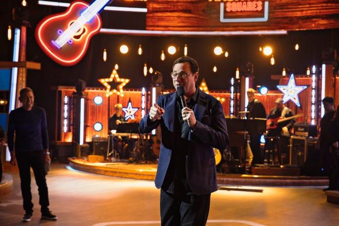 """Bob Saget works on the set of CMT's new game show, """"Nashville Squares."""""""