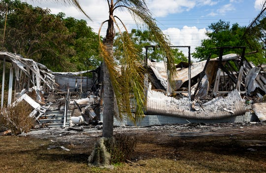 A mobile home, pictured on Thursday, Oct. 3, 2019, located in the Imperial Bonita Estates in Bonita Springs was completely destroyed by a fire that began around 8 p.m. Wednesday, Oct. 2, 2019.