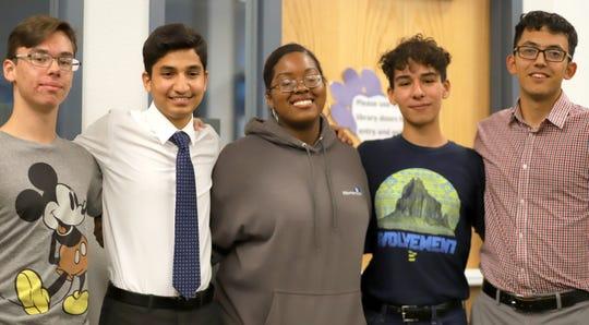 From left, are Deming High students Danny Calderon, Ahmad Alsheikh, Aliyah Haynes, Anthony Calderon and Sebastian Sanchez.