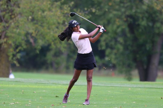 Northville's Megha Vallabhaneni led the entire conference with a 76 at the KLAA postseason tournament.