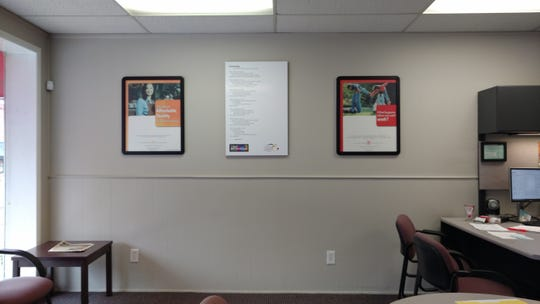 A poem up in the State Farm office in South Lyon for the Poetry Walk.