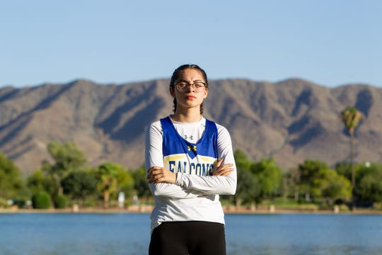Elizabeth Ramirez said running cross-country has helped her learn to finish everything she starts