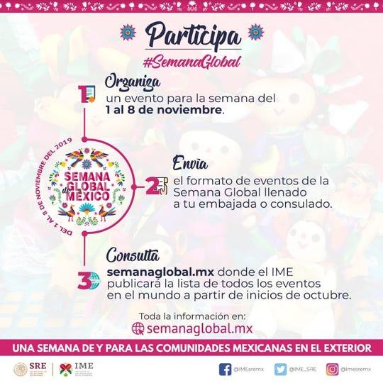 La Semana Global de México busca integrar las actividades que las comunidades mexicanas en el exterior.