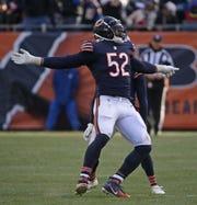 Khalil Mack, defensivo de los Bears.