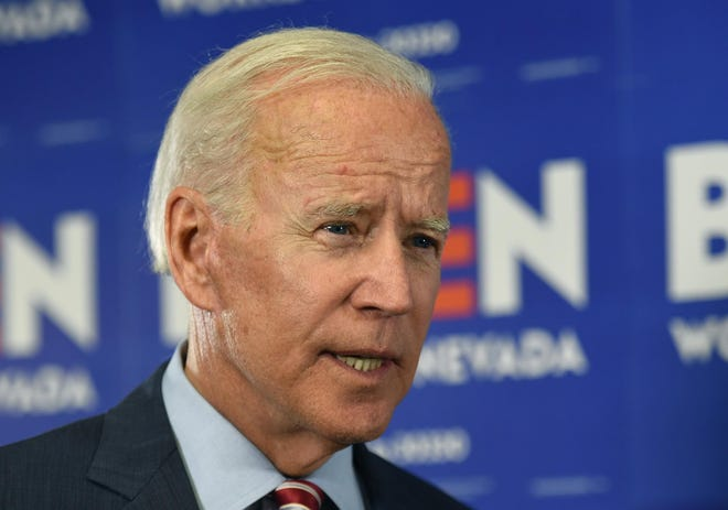 Joe Biden speaks at Truckee Meadows Community College in Reno, Nevada on Oct. 2, 2019.