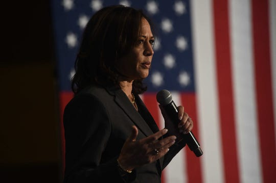Senator Kamala Harris campaigns in Reno on Oct. 3, 2019.