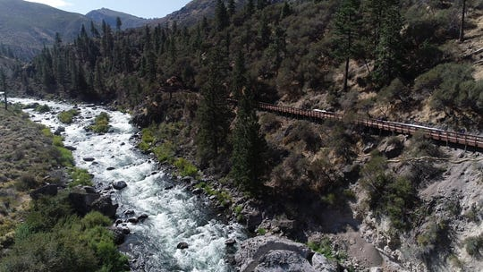 The Tahoe-Pyramid Trail connects Reno and Truckee along the Truckee River.