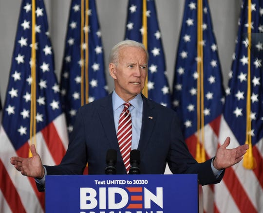 Joe Biden speaks at Truckee Meadows Community College in Reno, Nevada on Oct. 2, 2019.