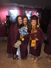 Meghan Finnerty, far left, at her Arizona State University graduation in 2017, with friends