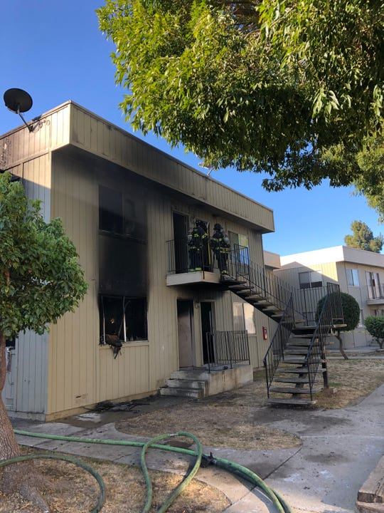 Firefighters responded to a structure fire in the Acosta Plaza area on Oct. 3, 2019.