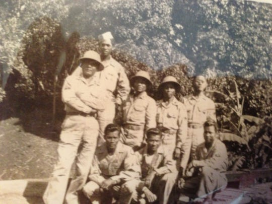Salinas resident Jose D. Serrano (second from left, back) served in the U.S. Army during WWII during which he was taken prisoner and forced to participate in the Bataan Death March.