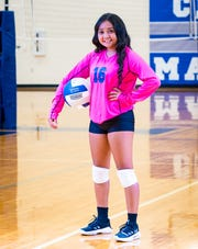 San Angelo Lake View High School's Angelina Valero was voted the Standard-Times volleyball player of the week for week eight of the 2019 season.