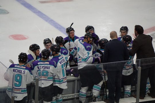 Shreveport Mudbugs associate coach Rich Parent (right) will miss Friday night's game at Springfield (Illinois).