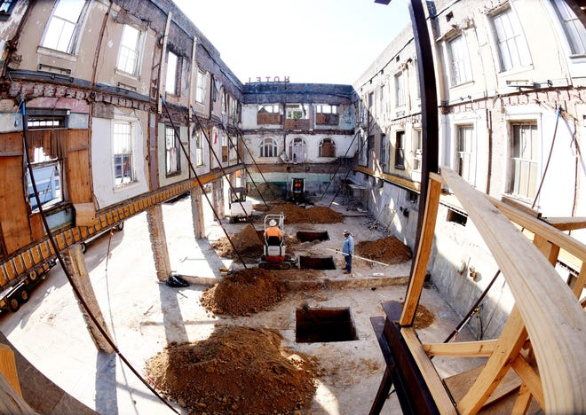 The old Arlington Hotel is being renovated so it can house the ÔEvery Man A KingÕ distillery.