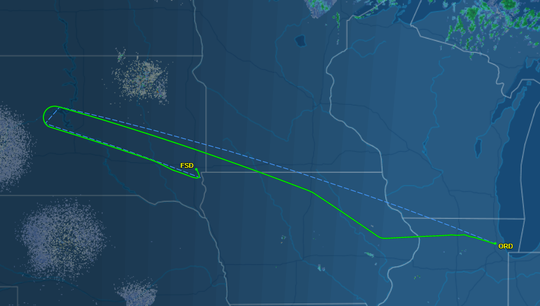 Delta flight 894 from Chicago to Seattle was diverted to Sioux Falls for a medical emergency, officials say.