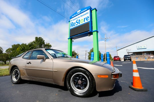 A 1984 Porsche 944 with 66,000 miles on the odometer was donated to the Habitat for Humanity ReStore.
