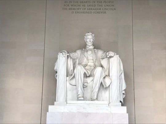 The Lincoln Memorial, where you can stand in the footsteps of Martin Luther King Jr. where he gave his famous speech.