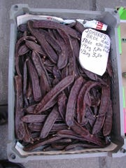 """The seed pods of carob called """"Johannisbrot"""" in Vienna."""
