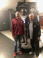 John Lata with former FSU receiver Fred Biletnikoff.
