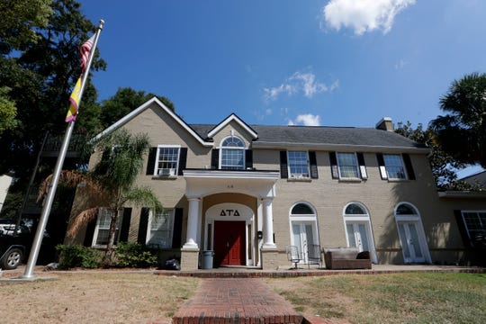 The Florida State University Delta Tau Delta house Thursday, Oct. 3, 2019. The fraternity is suspended for hazing allegations.