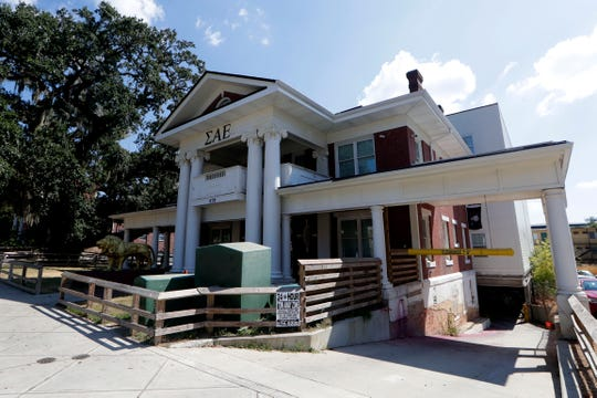 The Florida State University Sigma Alpha Epsilon house Thursday, Oct. 3, 2019. The fraternity is suspend for alcohol allegations.