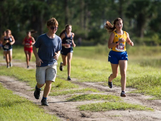 Boys and girls from 13 schools compete in the Tommy Lacayo Memorial Invitational high school cross country meet Wednesday, Oct. 2, 2019, at McCarty Ranch Preserve in St. Lucie County.