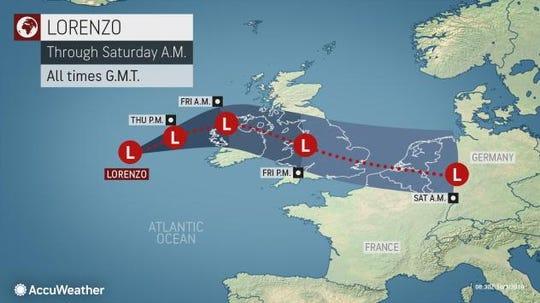 Post-Tropical Cyclone Lorenzo 8 a.m. Oct. 3, 2019