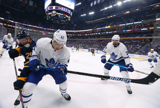 Trevor Moore (42), a Thousand Oaks resident, is expected to be a key contributor for the Toronto Maple Leafs this season.