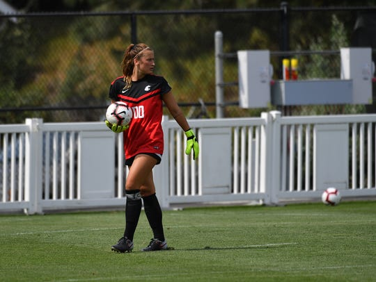 Newbury Park High graduate Ella Dederick became Washington State women's soccer's all-time leader in goalkeeper wins on Saturday with a 2-1 win over Oregon State.