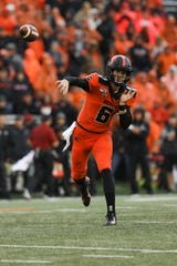 Former Ventura College star Jake Luton will remain Oregon State's starting quarterback. Calabasas High graduate Tristan Gebbia is Luton's backup — for now.