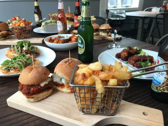 A sampling of food options at Crossroads Gastro in West Nyack.