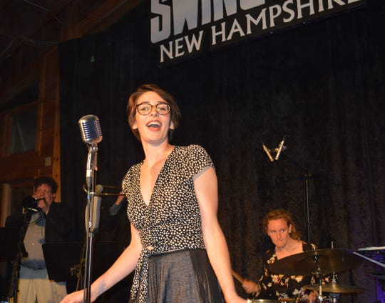 Gretta Cavatassi sang with Gordon Webster's band at Swing Out New Hampshire.