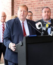 Clarkstown Supervisor George Hoehmann speaks during a press conference where he announced the town of Clarkstown bought Grace Baptist Church in Nanuet on Oct. 3, 2019.