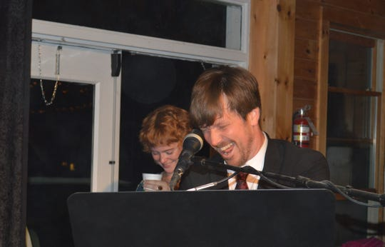 Jazz pianist Gordon Webster, with Hannah Gill, at Swing Out New Hampshire.