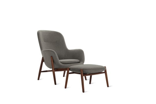 Nora Lounge Chair and Ottoman offered at Design Within Reach.